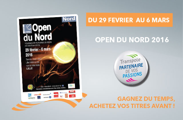L'Open du Nord, Grand Prix International de Tennis au Tennis Club Lillois Lille Métropole !