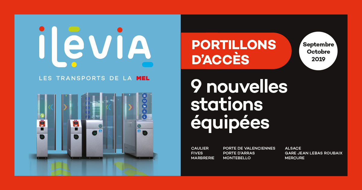 Mise en service de nouveaux portillons d'accès !
