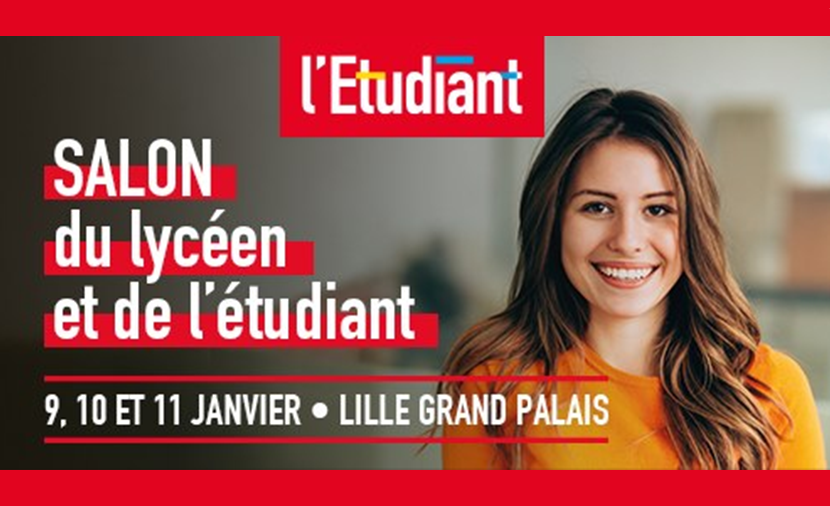 Le salon de l'étudiant à Lille du 9 au 11 janvier